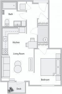 Stevens Creek Studio Floor Plan